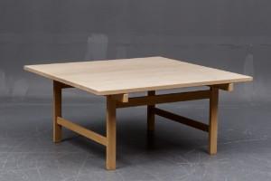 wegner sofabord Hans J. Wegner, kvadratisk sofabord i massivt sæbebehandlet egetræ  wegner sofabord