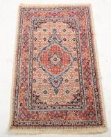 Tæppe, persisk Moud. 127x77 cm.