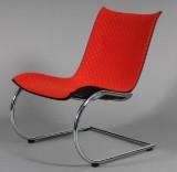 Peter Karpf: Agitari Lounge stol i formspændt eg.