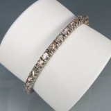 Antikt armbånd i guld og sølv med diamanter