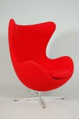Arne Jacobsen (1902-1971). Fåtölj, Ägget, för Fritz Hansen