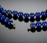 Lapis lazuli kæde med dupsko