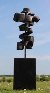 Pierre Martin. Bronzeskulptur. New Turning Torso. H. ca. 102 cm