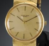 Vintage Favre-Leuba, herrearmbåndsur af 18 karat guld