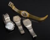 Samlinge af fire quartzure - Certina, TIssot og Swatch
