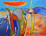 Gönül Sen-Menzel, akrylmaleri, 'Landschaft II'