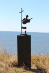 Pierre Martin. Bronzeskulptur på sokkel af poleret marmor. 'Illusion I'