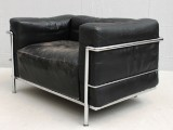 Lounge chair, Le Corbusier/  Pierre Jeanneret/ Charlotte Perriand, modell LC3 / 'Grand Confort'