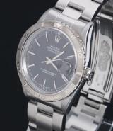 Rolex Datejust Turn-O-Graph men's watch, steel, black dial, c. 1997