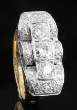 Diamond handmade ring in 18kt approx. 1.66ct