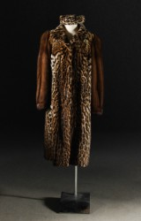 Fur, ocelot, 1950/60s, with accompanying hat