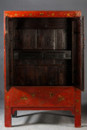 chinesischer schrank rot lackiert. Black Bedroom Furniture Sets. Home Design Ideas