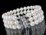 Perlearmbånd med lås af hvidguld
