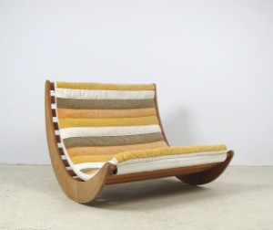com furniture verner panton two seater relaxer rocking chair
