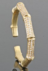 Diamond skeleton bangle in 18kt approx. 2.00ct