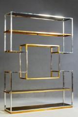 Romeo Rega zugeschrieben. Großer Raumteiler / Regal im Stile des Art Déco. Italien.