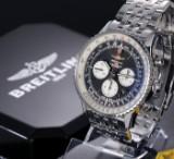 Breitling 'Navitimer 46' men's chronograph, steel, black dial, 2010's