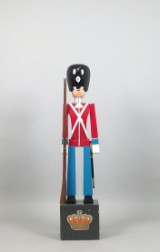 Kay Bojesen, a large wooden figure, guardsman / soldier with the guards, probably advertising for Kay Bojesen