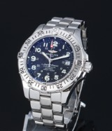 Breitling Superocean men's watch, steel, black dial with date, 2000's