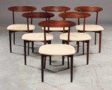 Kurt Østervig, attributed to. Six rosewood chairs, model 26 (6)