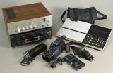 Technics, B&O, Panasonic og Akai. Receiver, radio m.m. (4)