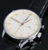 IWC 'IWC Portugieser Chronograph Rattrapante'. Men's watch, steel, c. 2005