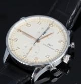 IWC 'IWC Portugieser Chronograph Rattrapante'. Men's watch, steel, c. 2005