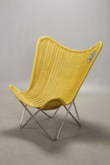 Knud Vinther. Batchair easy chair, natural curry-yellow rattan