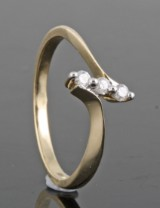 Diamond ring, 14kt. yellow gold, approx. 0.11ct