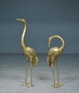 Bronzeskulpturer i form af to traner (2)