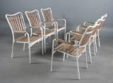 Daneline Havemøbler. Seks armstole/stabelstole (6)