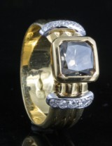 18kt cushion-cut diamond ring approx. 1.90ct. with IGL certificate