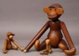 Kay Bojesen. Stor og lille abe , samt bamse (3)