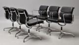 Charles Eames. A set of four Soft Pad armchairs, model EA-208 (4)