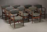 Dansk møbelproducent. Armstole, teaktræ (8)