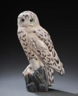 Dahl-Jensen. Large porcelain figure, snowy owl, no. 1390