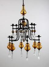 Erik Höglund, Boda Smide, chandelier, 1960s