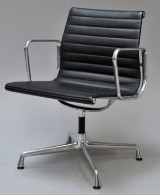 Charles Eames. Armchair, model EA-107, 'full Leather'