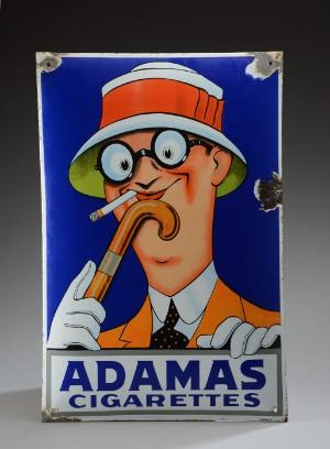 Adamas Cigarettes enamel sign, adamas cigarettes | lauritz