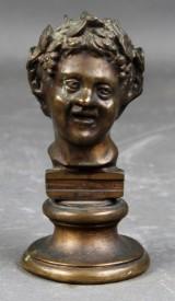 Ubekendt kunstner. Buste af bronze