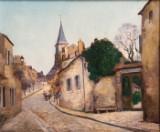 Marcel Francois Leprin, 'Ecole de St. Cloud, Paris', oliemaleri, 1921