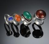 Fire ringe af sølv (4)