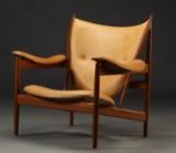 Finn Juhl. Chieftain Chair, vegetable leather