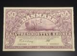 Danmark. 50 kroner pengeseddel 1945
