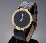 Piaget 'Polo' unisex watch, 18 kt. gold, black dial