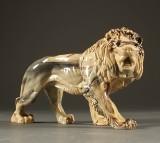 Løve, marmoreret kunstmateriale