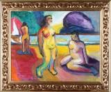 Borko Petrovic, målning, On the beach