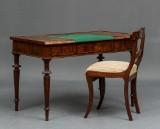Dameskrivebord og stol - mahogni 1800-tallet (2)