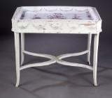 Rörstrand Gustavian faience tray table, Sweden, 1780-1800