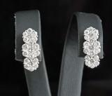Earrings in 18k set with brilliant cut diamonds 1.30 ct
